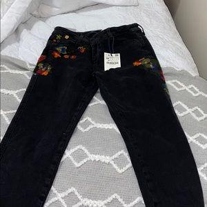 Black floral jeans!